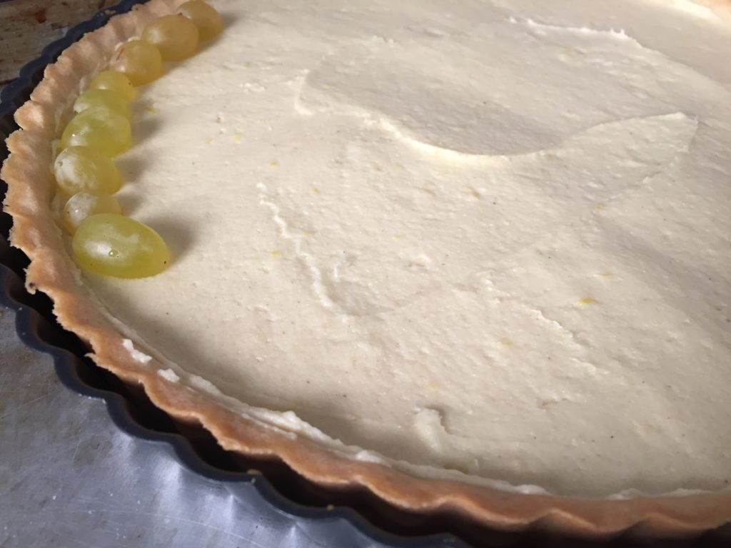 cornmeal lemon grape tart recipe