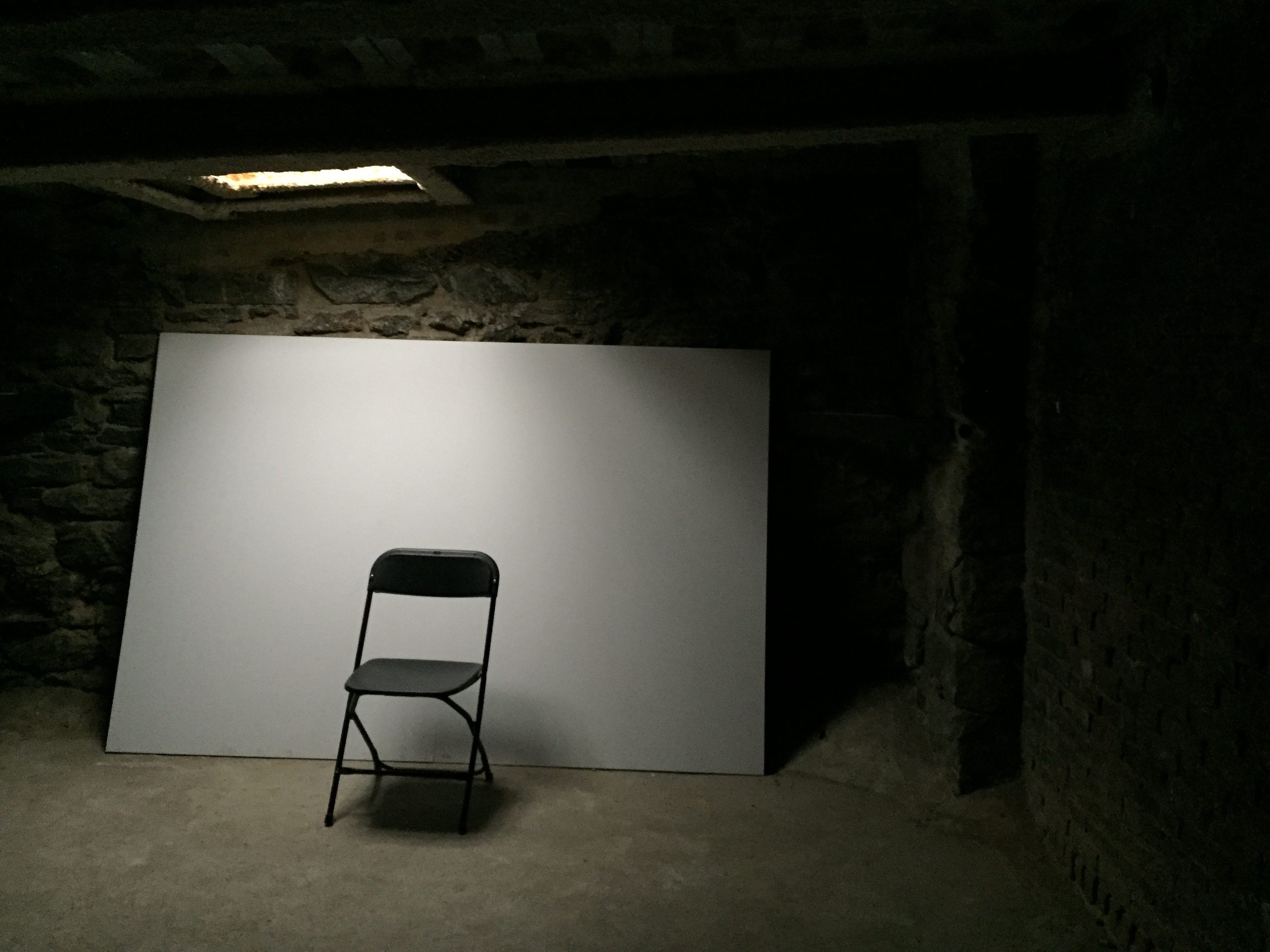 chair sitting alone in the dark and the unknown art