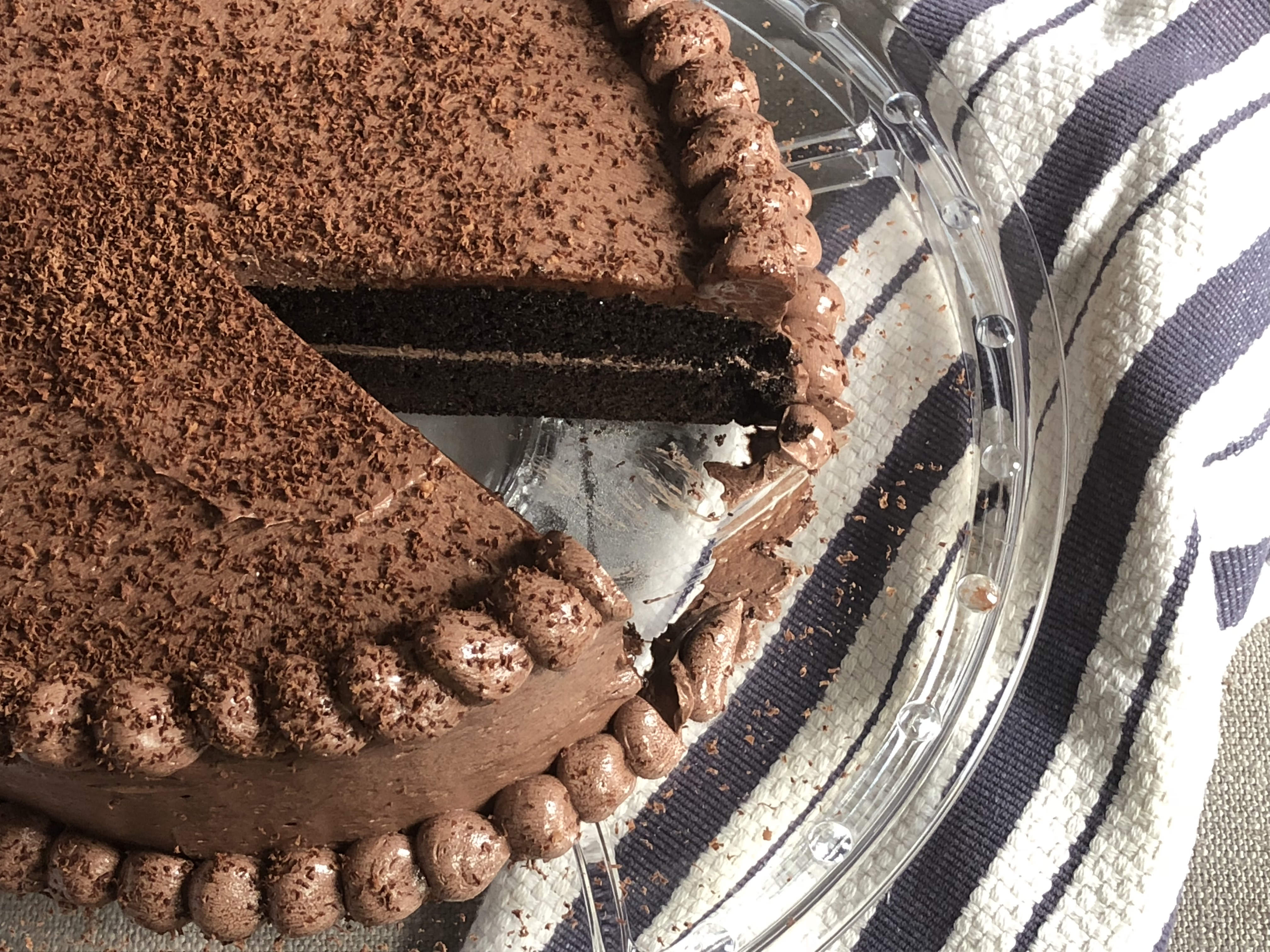 chocolate cake with rich chocolate buttercream