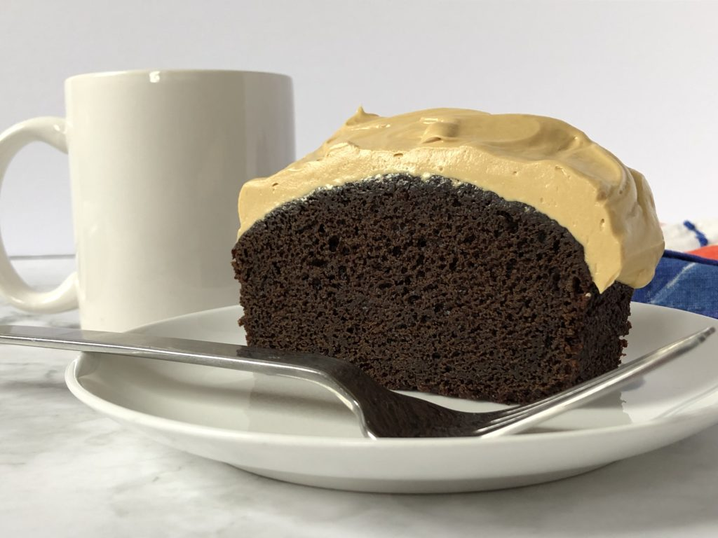 coffee buttercream and chocolate cake