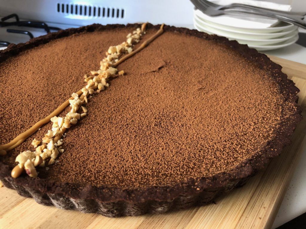 chocolate peanut butter reeses tart
