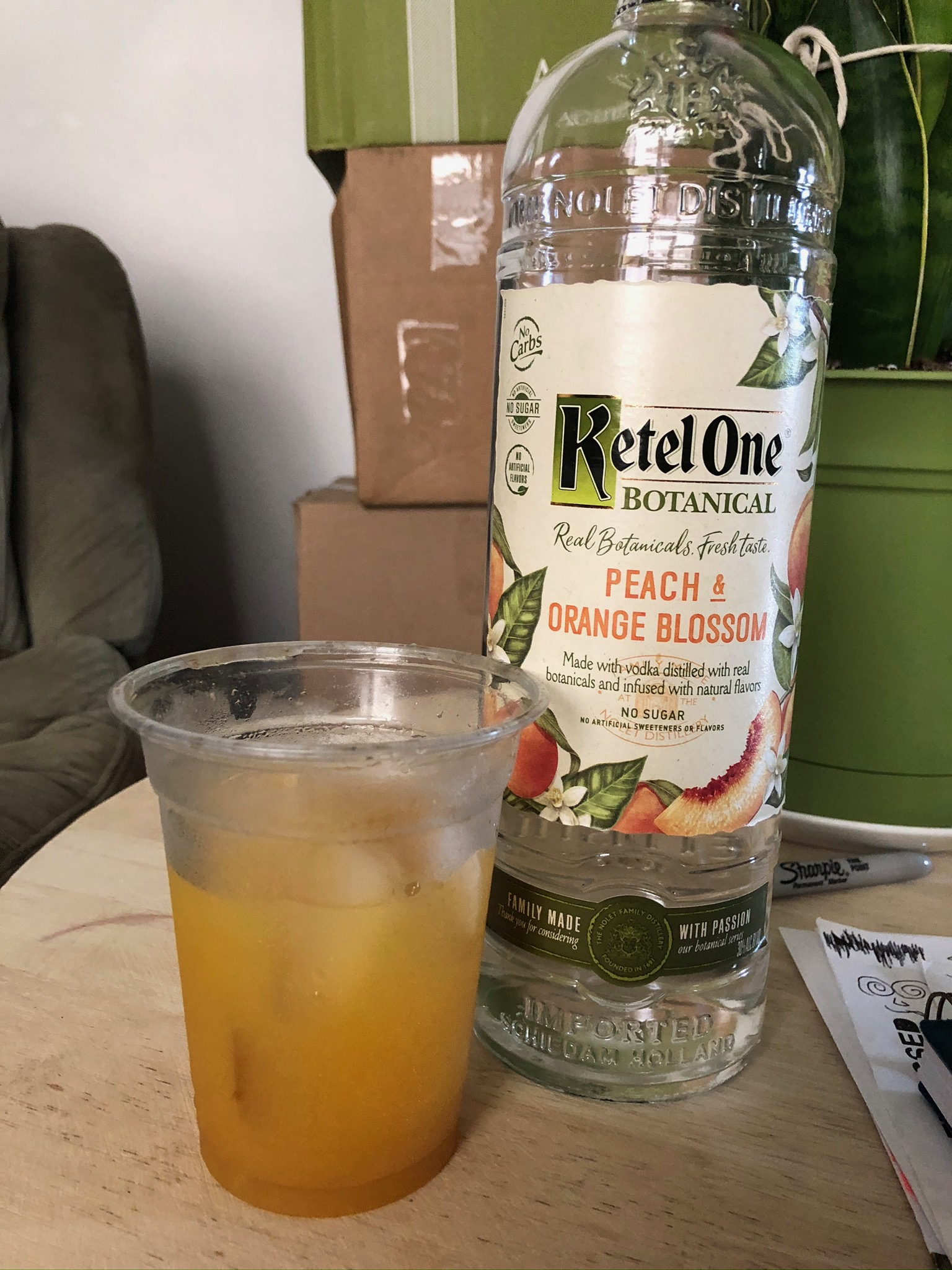 peach & orange blossom cocktail