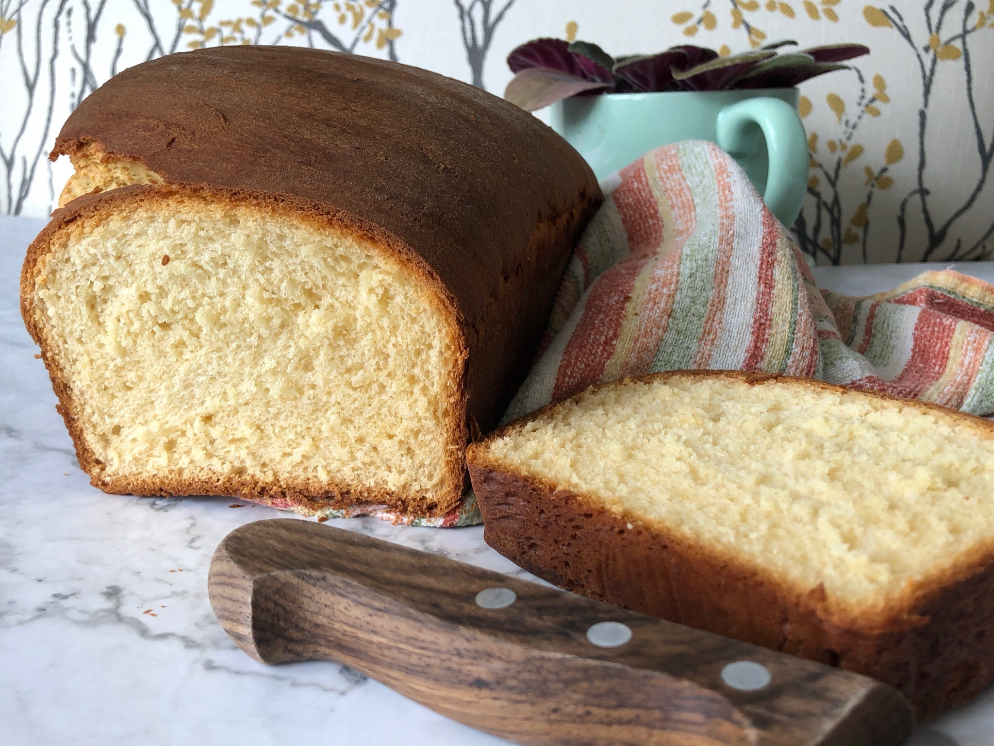loaf of bread brioche style with condensed milk recipe baking blog